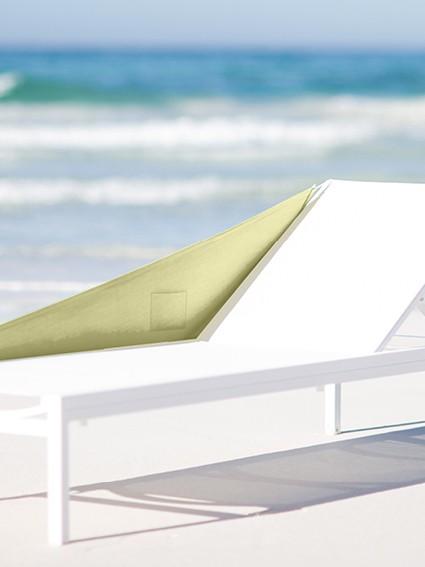 Hochwertiger Windblock mit Tasche in Beige